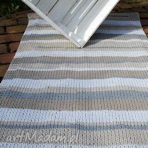 Zmiksowany Prostokątny Dywan, sznurek, bawełna, druty