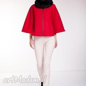 ręcznie wykonane kurtki peleryna amaranta