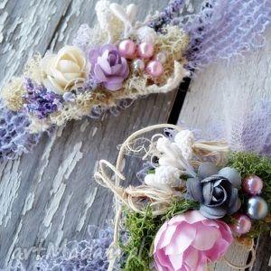 ozdoby do włosów opaska violet, majuhandmade, opaska, akcesoria, sesja, dziecko