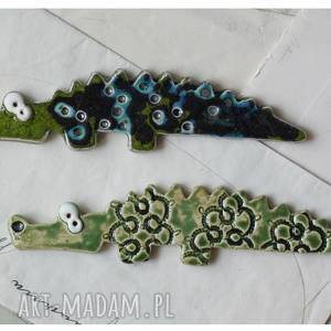 krokodyle - zestaw magnesów ii, ceramika, magnes, krokodyl