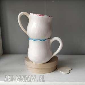 zestaw dwóch kubeczków, ceramika, kubek ceramiczny, ceramika użytkowa, filiżanka