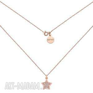 naszyjnik z gwiazdką wysadzaną swarovski® crystal w różowym