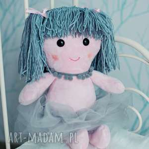 lalka aniołek ze skrzydłami, szmacianka, personalizacja, haft imienia