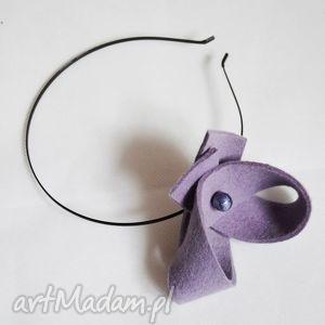 viola fioletowa, fiolet, fascynator, opaska, filc