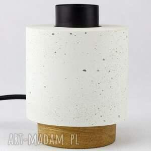 lampa stoło z betonu architektonicznego, lampa, architektoniczny, beton, loft
