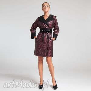kimono coat 36 burgund - moda, jesień, burgund, praca, biuro