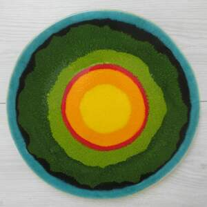 dekoracyjny talerz 4 pory roku, ceramiczny, patera ceramiczna