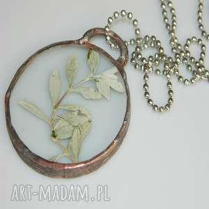 szklany wisior, wisior-miedziany, unikalna-biżuteria, szklany-wisior