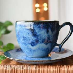 ceramika filiżanka 270ml głębia ceramiczna, filiżanka, morski, motyw wody