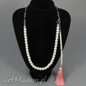 Kolia naszyjnik Anna, kolia, naszyjnik, korale, chwost, perły, perełki