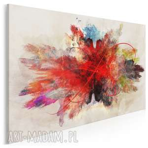 obraz na płótnie - abstrakcja czerwony 120x80 cm (74801)