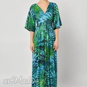 tropikalna magdalena - sukienka maxi, długa, jersey, suknia sukienki