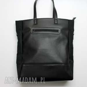 prezent na święta Shopper Bag - czarny, elegancka, nowoczesna, pakowna,