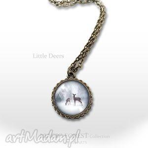 liliarts medalion, naszyjnik - sarenki mały antyczny brąz