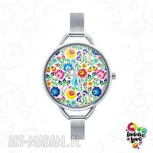 Zegarek z grafiką folk zegarki ludowelove etniczne, ludowe