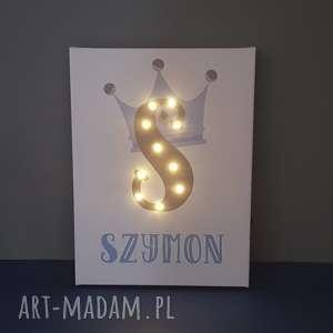 Prezent Świecąca litera LED obraz z koroną - zamówienie specjalne, korona, led,