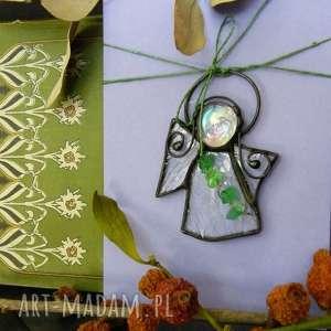Kartka z kryształowym aniołkiem, kartka-na-życzenia, kartka-z-aniołkiem