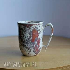 kubek ceramiczny ciapek biało czerwony, kubek, ceramiczny, ceramika