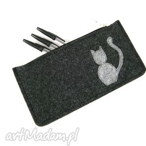 Anthracite pencil-case, piórnik, kot