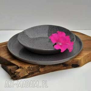 zestaw - talerz ceramiczny plus misa, ceramika, talerz, miseczka, prezent