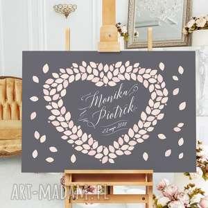 Weselny wieniec księga gości księgi kreatywne wesele gości, ślub