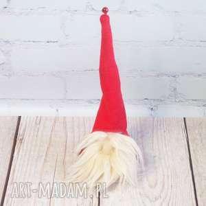 pomysł na prezent Świąteczny skrzat, skrzacik, krasnal, mikołaj, dekoracja, prezent,
