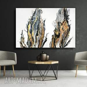 duży obraz ręcznie malowany na płótnie, 150x100 cm - pustynna bryza xxl