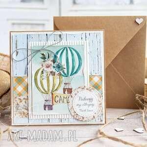 kartki kartka z podróżą w tle koperta personalizacja treści, dla niej