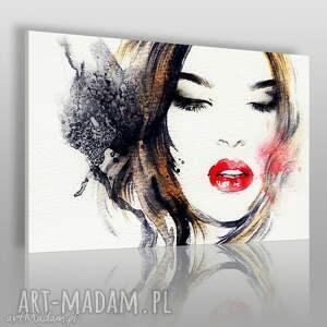 obraz na płótnie - kobieta glamour 120x80 cm 21501, kobieta, twarz, usta, makijaż