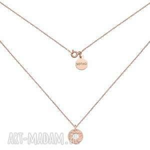autorskie naszyjniki naszyjnik z chropowatym kółeczkiem z różowego złota