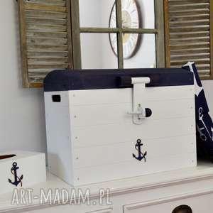 koloryziemi skrzynia pudełko z pokrywą nautical, przechowywanie, skrzynki, pudełka