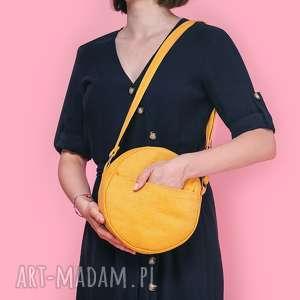Dotti - okrągła torebka na ramię żółta incat torebka