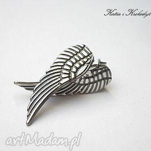 ręczne wykonanie kolczyki angel silver