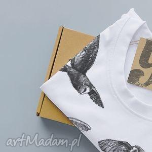 ręcznie wykonane koszulki sowy koszulka z nadrukiem