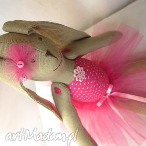 baletnica amarantowa, balerina, baletnica, tutu, komunia, lalka, szmacianka