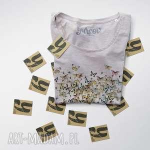 MOTYLE SERCE bluzeczka damska, bluzka, rekaw, dekolt, serce, motyle