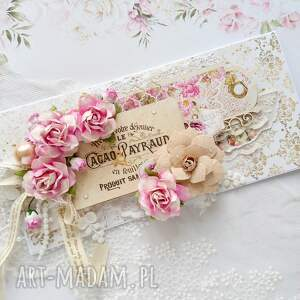 hand-made scrapbooking kartki kartka na różne okazje, w romantycznym stylu