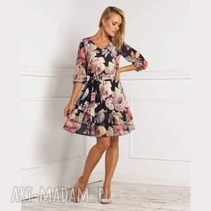 livia clue sukienka neva mini genevieve, mini, kwiaty, kwiatowy wzór