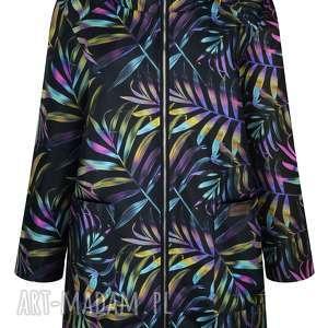jesienna parka damska, ocieplany płaszcz przeciwdeszczowy, kurtka zimowa z kapturem