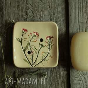 ceramika mydelniczka tasznik, mydelniczka, akcesoria łazienkowe, mydło, okrągła