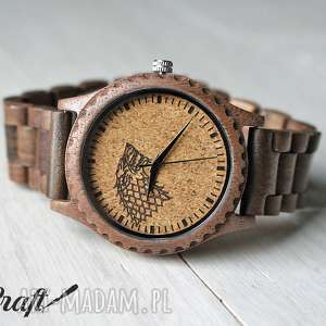 zegarki drewniany zegarek na bransolecie stark gra o tron, zegarek