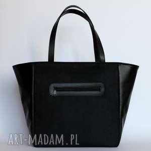 pomysł na prezent pod choinkę Shopper Bag Worek - czarny, elegancka, nowoczesna