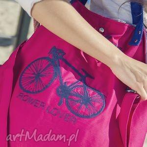 rower lover fuksja, torba, amarant, rower, święta prezent