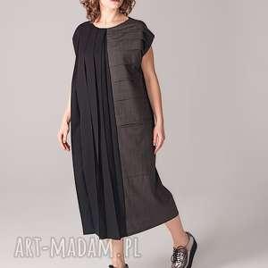 Industrialna sukienka tuba, industrial, klasyczna, plisowana, elegancka