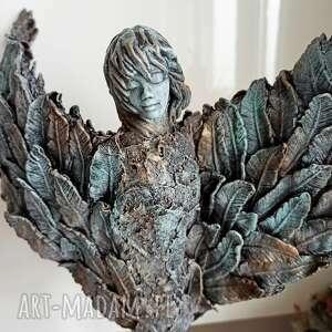 anioł szczęścia, stróż, figura anioła, talizman, dekoracja salonu, prezent