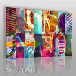 obraz na płótnie - litery kolorowy wzory 120x80 cm 72001, litery, wzory, kolory