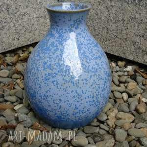 Wazon błękitny krystaliczny 1, wazon, ceramika, krystaliczne, glina, rękodzieło