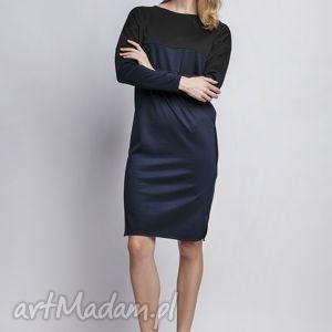 ręczne wykonanie sukienki sukienka, suk107 granat