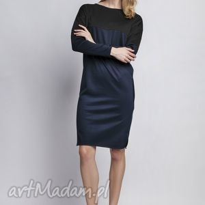 Sukienka, suk107 granat sukienki lanti urban fashion kontrast