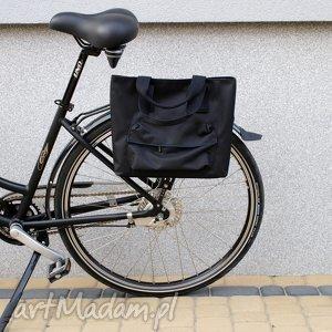 torba rowerowa romania czarna, rower, torba, praca, zakupy, prezent